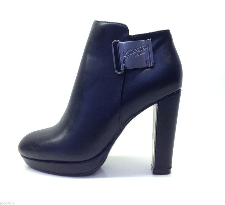 GATTINONI scarpe donna TRONCHETTO TACCO PINMD0175WCA000 nero ecopelle fibbia   eBay