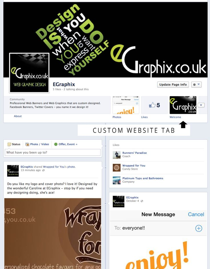 Website Integration into your Facebook Page within 24hours. I can embed your Website into Your FaceBook Page to that your fans can see your website within your profile page. I will also design you a little tab that will compliment your page. When integrating your website into Facebook - i will do this so that your page fits the whole panel so (no annoying scroll bars) I also have on offer other services such as Custom Tab Design, Facebook Cover Design and Adding in Other Tab... on…