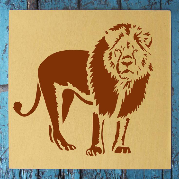 Lion Stencil (8.5″x11″)