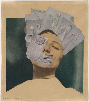 Indian Dancer, Hannah Höch (1889-1978) was the only female member of the Berlin Dada group founded around, 1918. In responding to the horror of World War I, Dada artists began to make works that really challenged every convention of art making. Many of their works were made with found objects, especially found photographs.