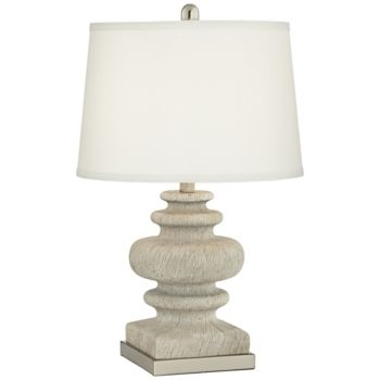 Pacific Coast Faux Wood Turned Resin Table Lamp