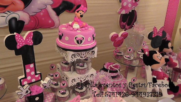 1000 images about tortas cup cakes sofia minnie for Decoracion minnie mouse