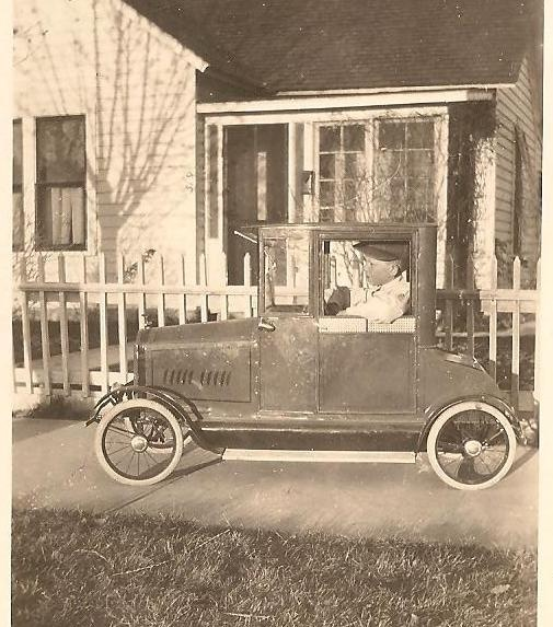 young boy in his american national packard coupe pedal car circa 1923 one of the vintage children