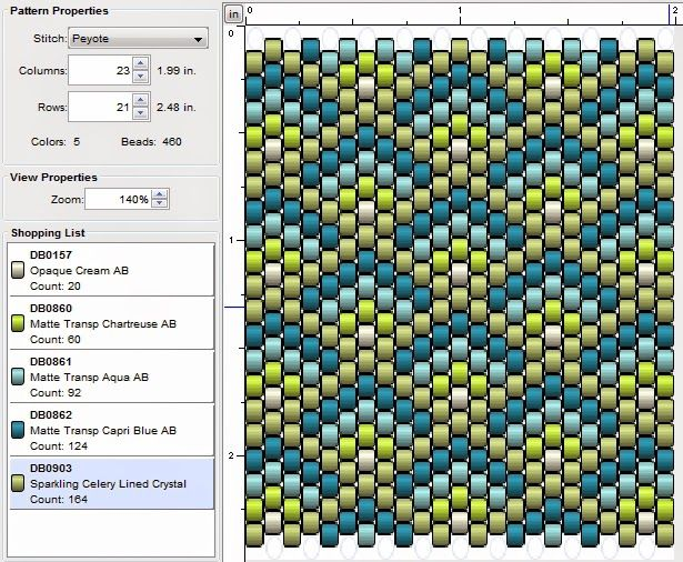 Interesting Site - lots of patterns for peyote. Beading: Peyote Stitch Pattern 32