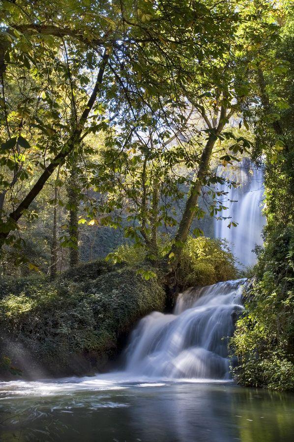 Waterfall Monasterio De Piedra Zaragoza Spain Beautiful Nature Beautiful Landscapes Beautiful Waterfalls