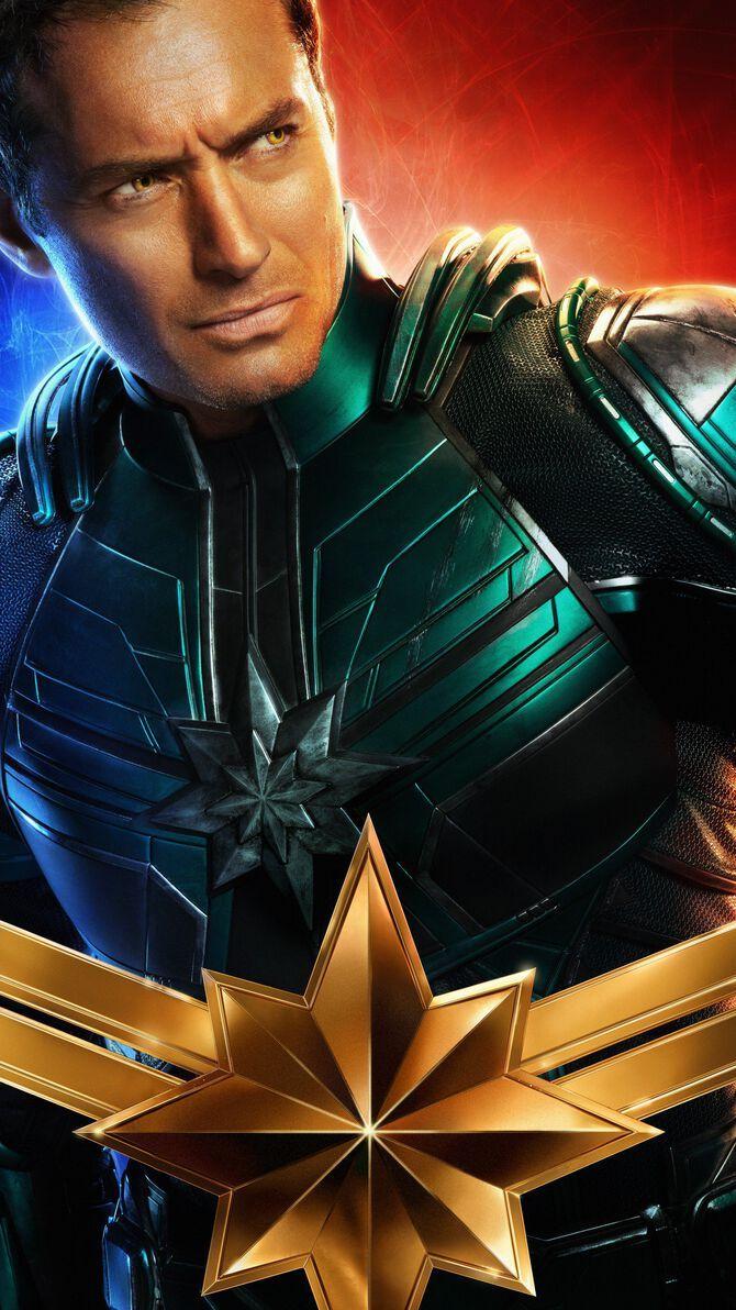Captain Marvel 2019 Phone Wallpaper Movie Mania Pinterest