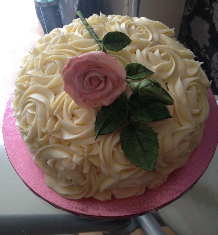 Rose Swirl Cake Design : 70th birthday cake rose swirl design Mum s birthday cake ...