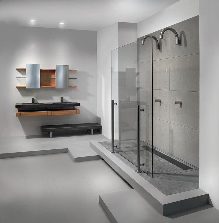 Balance natuurstenen douchebak Freedom voor inloopdouche - Product in beeld - - Startpagina voor badkamer ideeën | UW-badkamer.nl