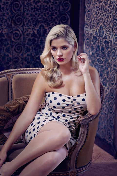 Holly Willoughby makes an ideal 50's pin up girl.