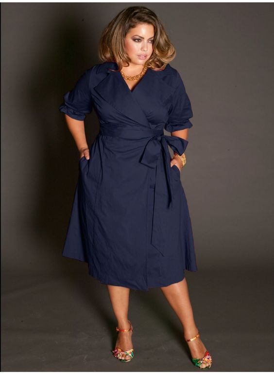 5 beautiful navy blue dresses for curvy women | Fashion | Plus size ...