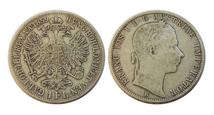 1 florin 1859 B Ferenc József - Zomi Numizmatika