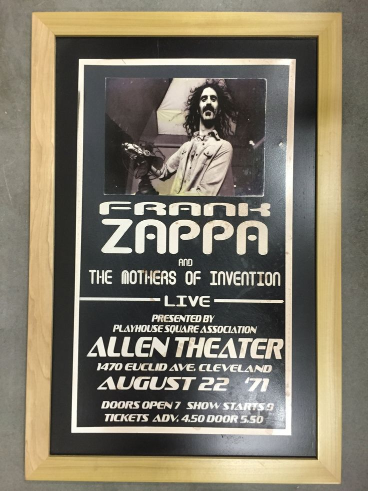 Frank Zappa concert sign by thecrabbybadger on Etsy