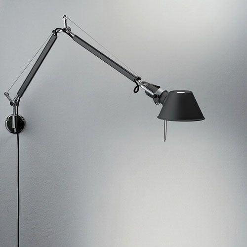 Artemide Tolomeo Black Wall Lamp