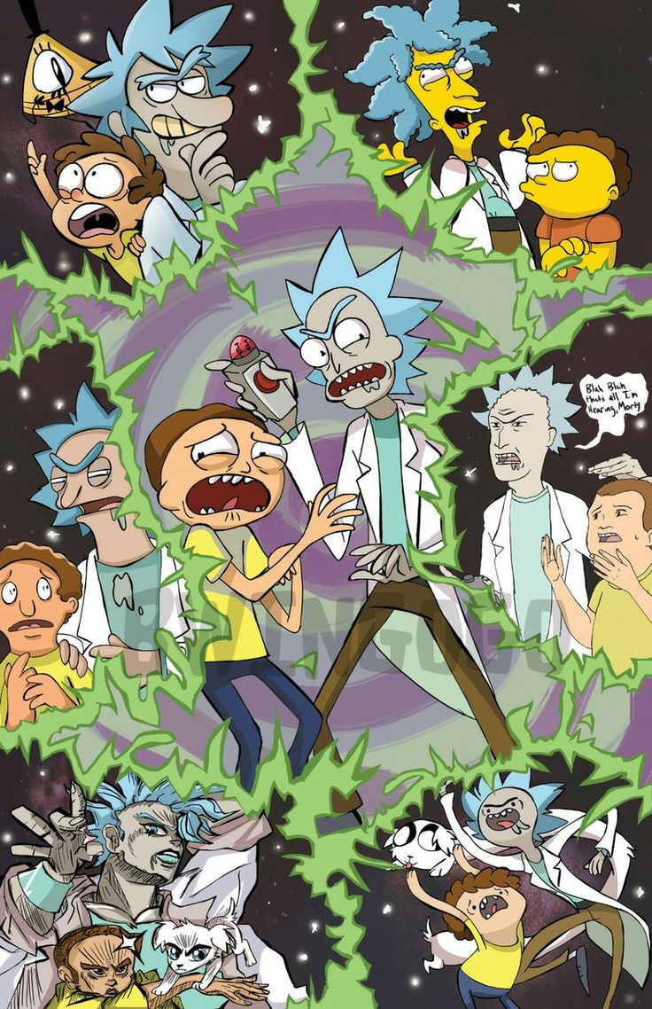 Rick and morty cartoon multiverse