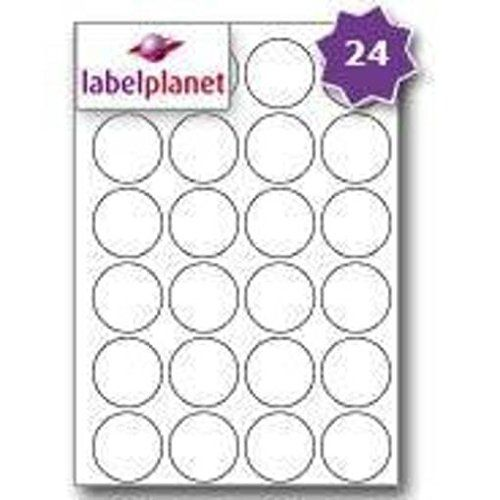 From 2.49 24 Per Page/sheet 5 Sheets (120 Round Sticky Labels) Label Planet White Blank Matt Self-adhesive A4 Circular Circle Price Pricing Stickers Printable With Laser Or Inkjet Printer Uk Lp24/45r 45mm Diameter Circles For Jam Free Printing