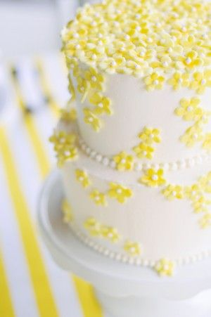 Pretty cake but we like it better without the beading.