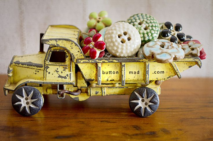 A truck load of Incomparable handmade buttons
