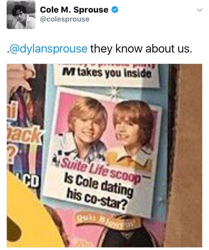 Omg lol... im wondering how Dylan felt abt being called Cole's co-star?
