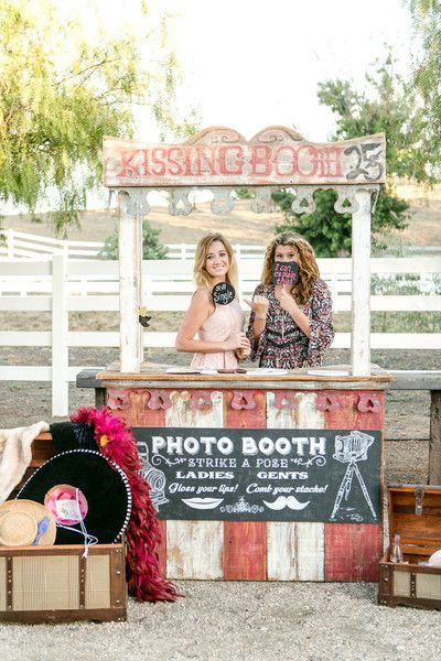 Wedding photo booth idea - a kissing booth! {Leah Marie Photography}