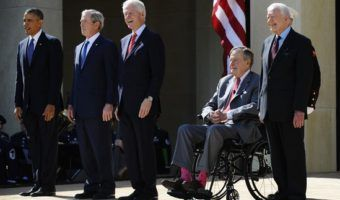 richardhaberkern.com Five former presidents get together— without Trump — to pledge help for Texas