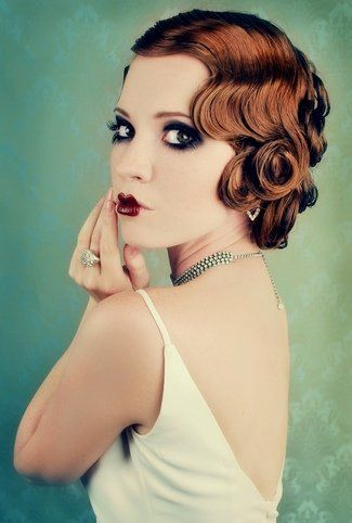 Peinado y maquillaje de novia estil años 20's - Bridal Hair Wedding Upstyles & Updos