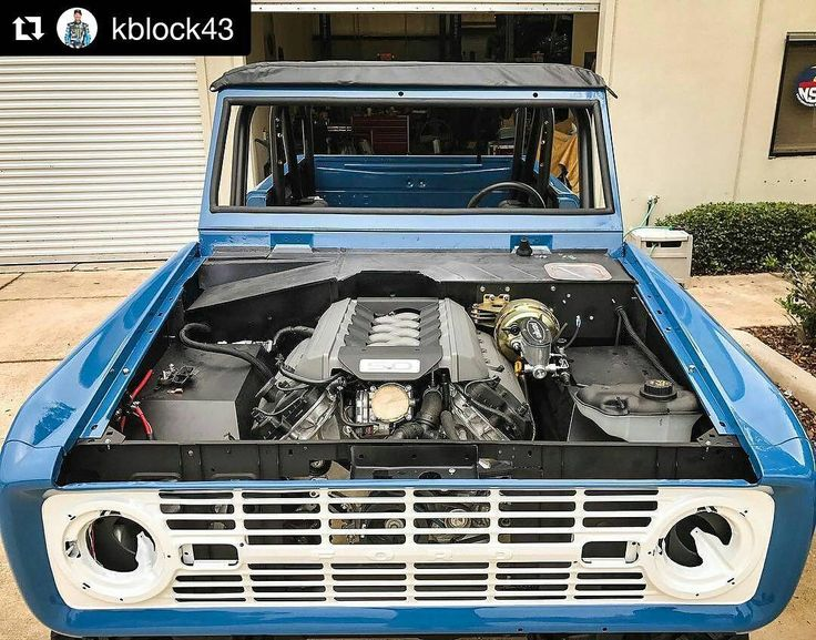 #Repost @kblock43 The final pieces of #HRDwifeyBroncoProject are coming together: engine is in and wired up! Wifeys 450 hp @FordPerformance Parts Coyote 5.0 engine was a tight squeeze between the modified frame rails of the Bronco but thanks to some custom headers and steering gear from the Bronco Experts @velocityrestorations it fits perfect. And that means its coming to Utah soon. Who wants to hear this thing fire up? #Bronco #Coyote #horsepower #alltheanimals . . . #classicfordbronco…