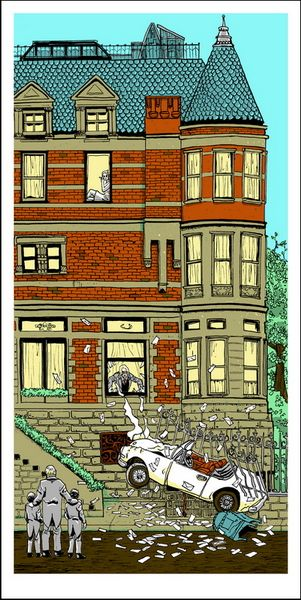 """Bad Dads - The Royal Tenenbaums print   This print was produced for Spoke Art's """"Bad Dads"""" Wes Anderson tribute show."""