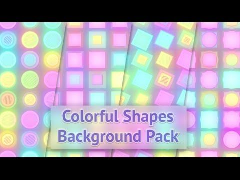 Colorful Shapes Background Pack