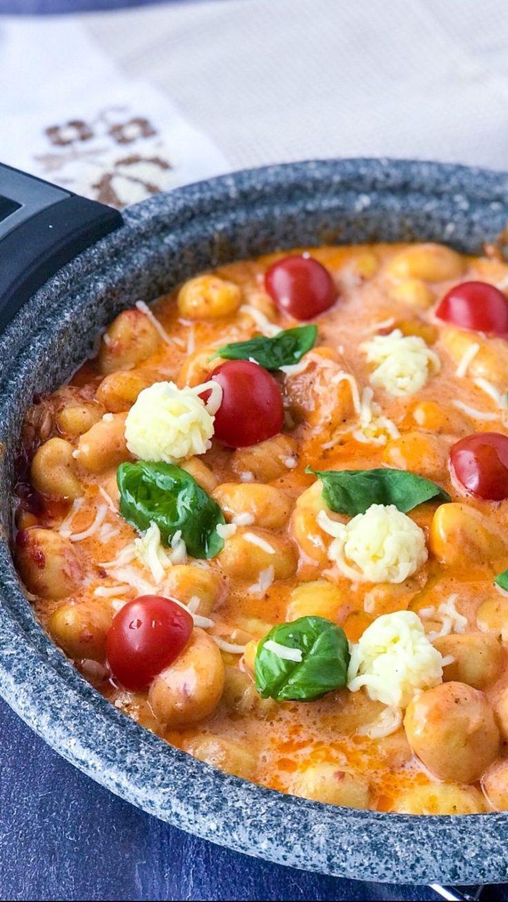 Tomaten Mozzarella dumplings   – Kochen