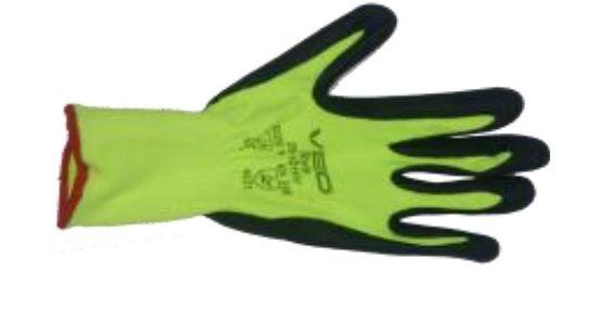 Veo - Style 25-101 HV İş Eldiveni  Montaj veya hassas işler için uygun Nitril Sarı Renk  1 Paket: 12 Çift.