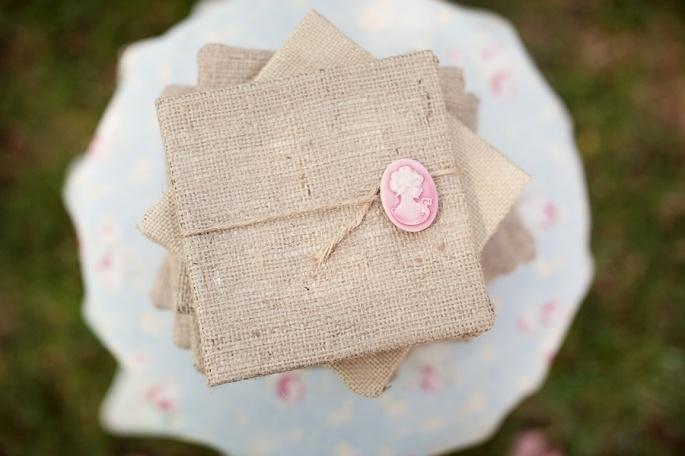 burlap and cameo: Vintage Chic, Wedding Ideas, Handmade Wedding, Unique Wedding, Pink Ribbons, Burlap Ideas, Burlap Wedding, Southern Wedding, Rustic Wedding Invitations