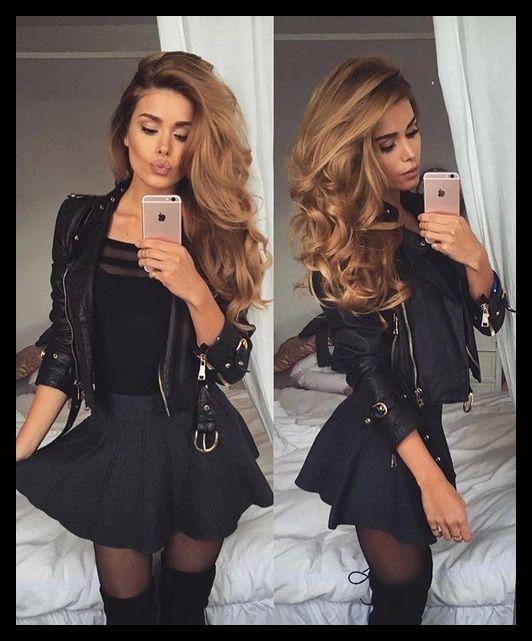 Was zu tragen für die Ausgehen 10 besten Outfits | Mode – Fashion … | Schöne Frisuren #mode #fashion #jacken #mantel #winter