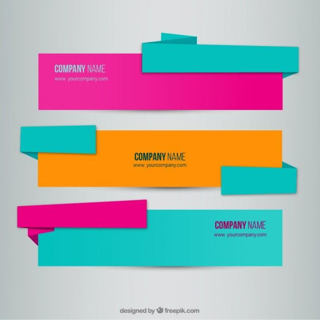 Origami Banners Free Vector screenshot