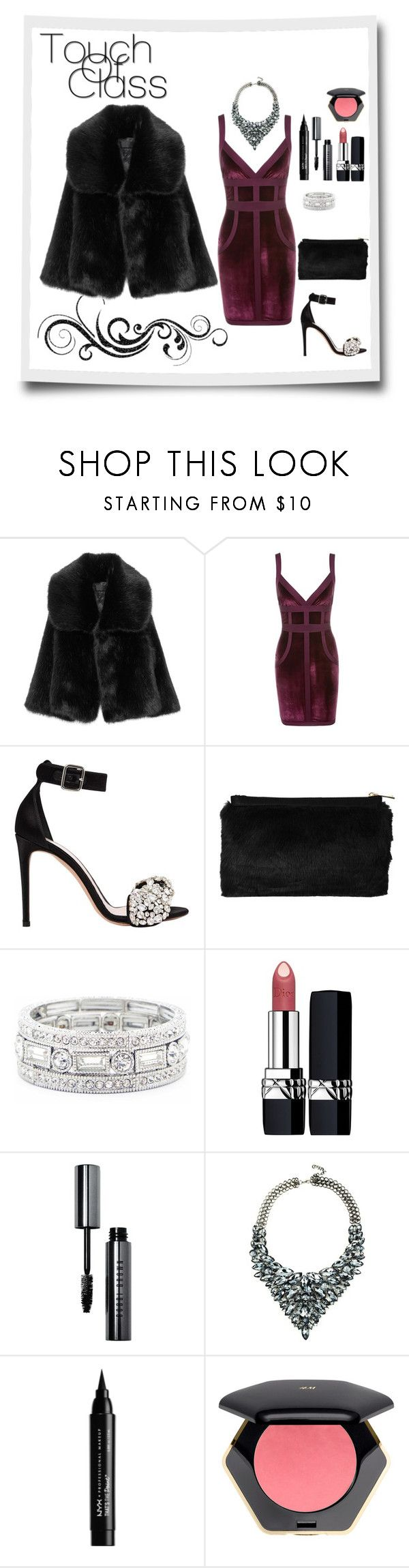 """Faux Fur Fiesta"" by triplee2017 ❤ liked on Polyvore featuring Alexander McQueen, Miss Selfridge, Sole Society, Christian Dior, Bobbi Brown Cosmetics, Eye Candy and NYX"