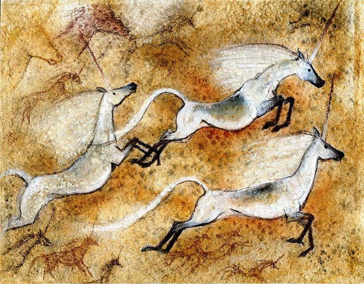 Unicorn cave art! | art history | Pinterest | Caves ...