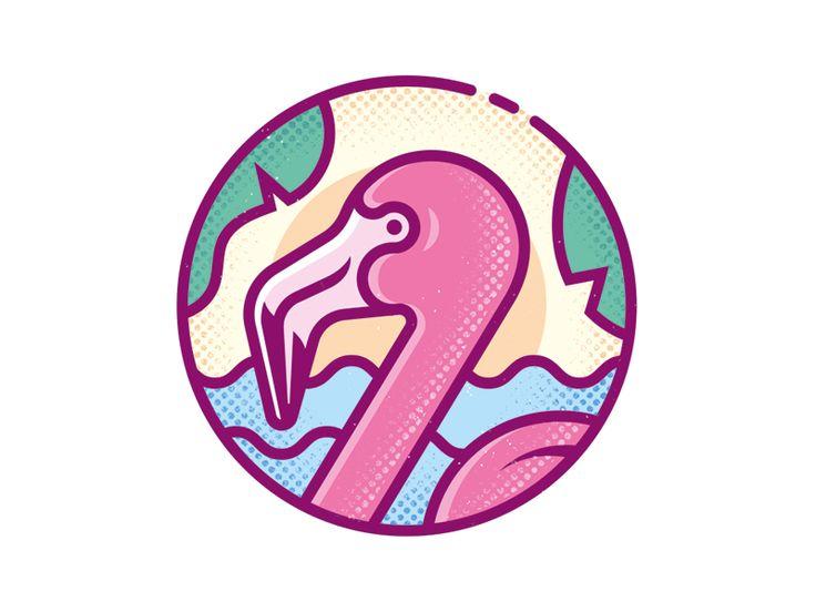 Flamingo brand by Enisaurus #Design Popular #Dribbble #shots
