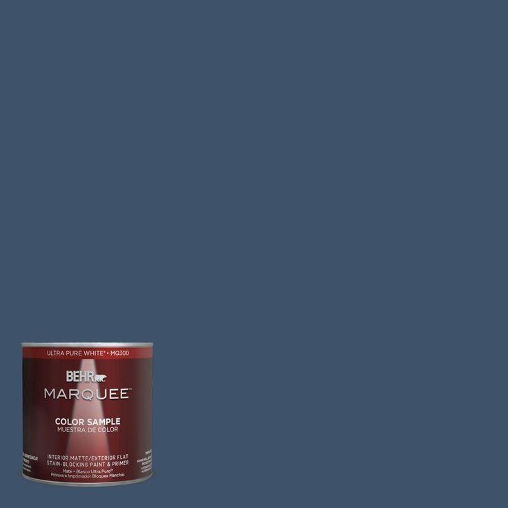 behr marquee 8 oz hdc sm14 7 midnight mosaic matte interiorexterior paint sample