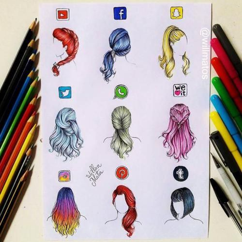 art, hair, and hairstyle image