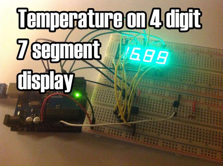 328 best diy electronic projects images on pinterest diy in this project ill display the temperature in a 4 digit 7 segment display common anode the sensor is the cheapest you can find so actually the solutioingenieria Choice Image