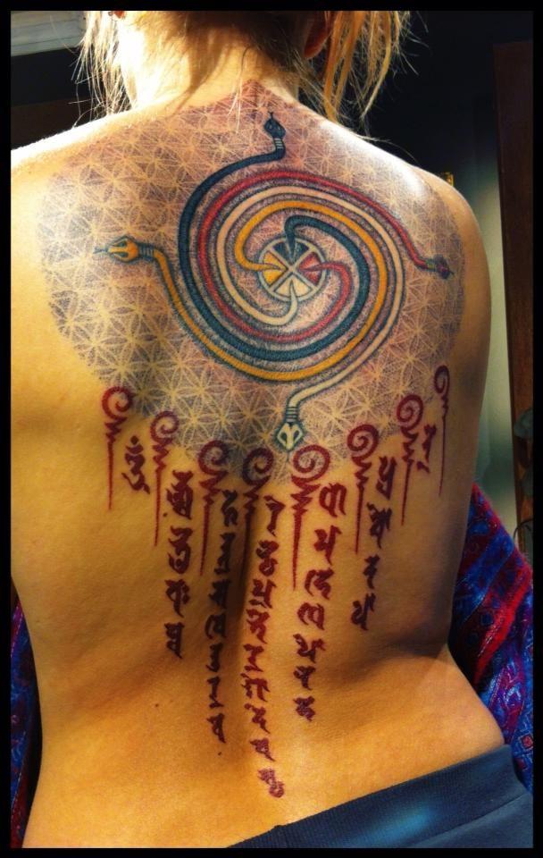 Gayatri mantra tattoo by Meatshop-Tattoo.deviantart.com on @deviantART  dude...this is amazing.