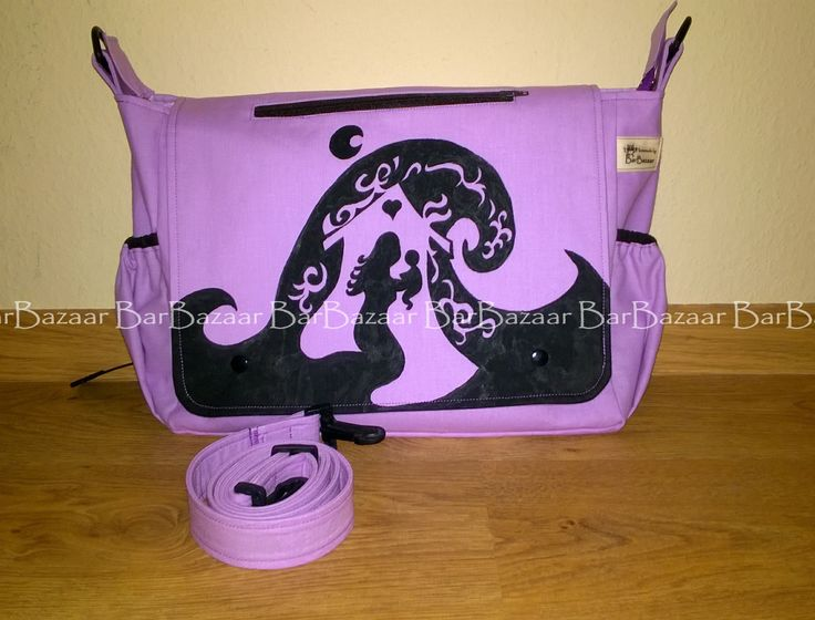 Giant hand painted 2in1 bag for baby carrying.