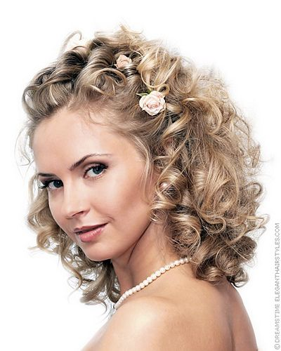 Wedding Hairstyles Medium Length Curly Hair