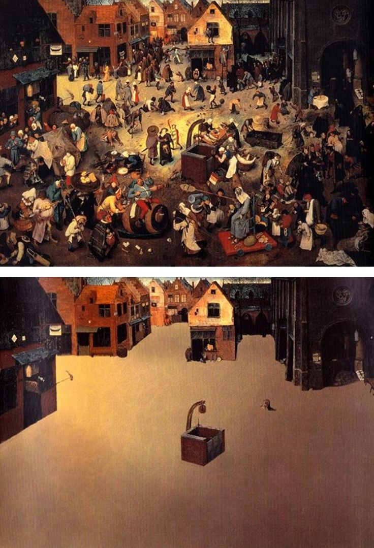 "Ursus Wehrli, Tidying Up Art. Peter Bruegel ""The Fight Between Carnival and Lent"""