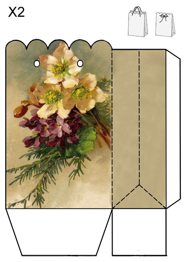 Vintage Violet Gift Bag By Jb Our Pansy Tea Party