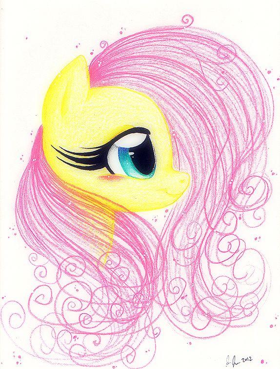 Картинки как нарисовать пони флаттершай