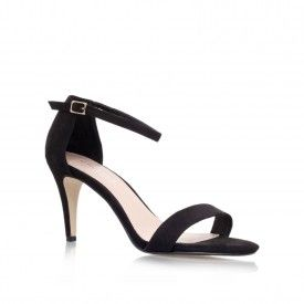 KIWI Black Mid Heel Sandals by Carvela Kurt Geiger | Kurt Geiger - nice but wrong colours