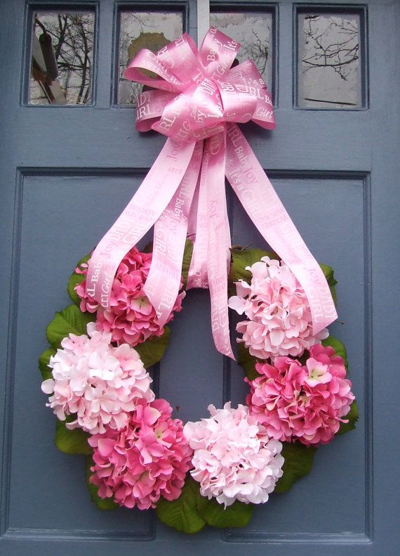 New Baby Girl Wreath (love this!)
