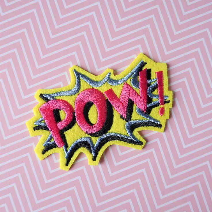 Patch #Pow - #Patch thermocollant mot Pow - Patch #onomatopée #Batman - #Ecusson mots de bande dessinée - #Applique DC Comics #Comics par #PicEtPatchEtColegram sur #Etsy https://www.etsy.com/fr/listing/548687501/patch-pow-patch-thermocollant-mot-pow