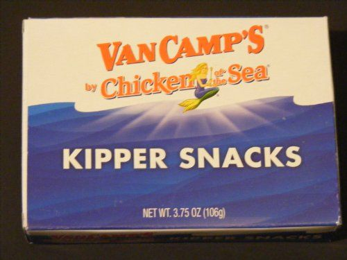Lot of 12 Tins -(1 Case) Chicken of the Sea- Kipper Snacks -Naturally Smoked Herring Fillets in Water and Salt. -- Check out this great image @ : Quick dinner ideas