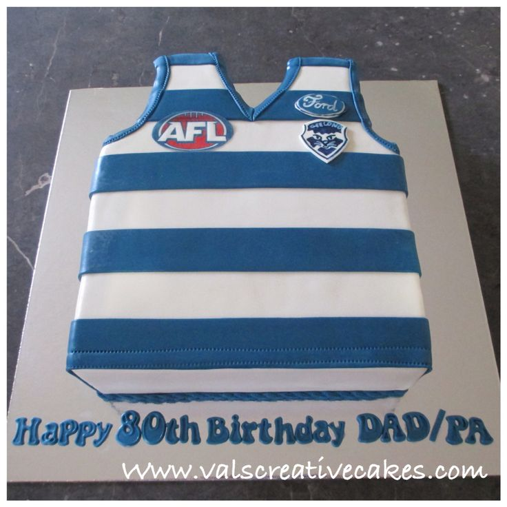 Geelong F.C. Supporters birthday cake
